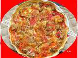Pizza tomates moutarde moza