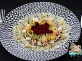Carpaccio concombre betteraves au gingembre