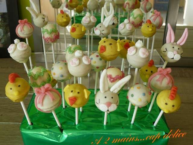 Recettes de cake pops et p ques for Decoration lapin de paques