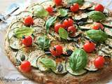 Pizza courgettes { sans gluten, sans œufs possible sans lait }