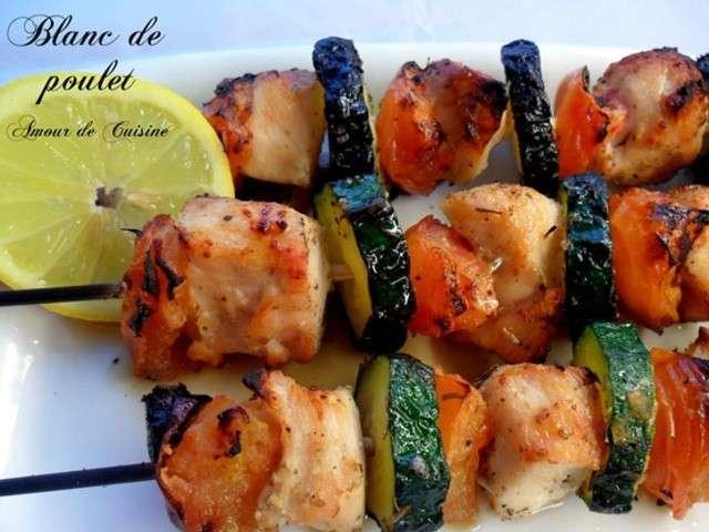Recettes de brochettes de poulet de amour de cuisine chez for Amour de cuisine chez soulef 2012