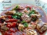 Cervelle d'agneau en sauce tomate