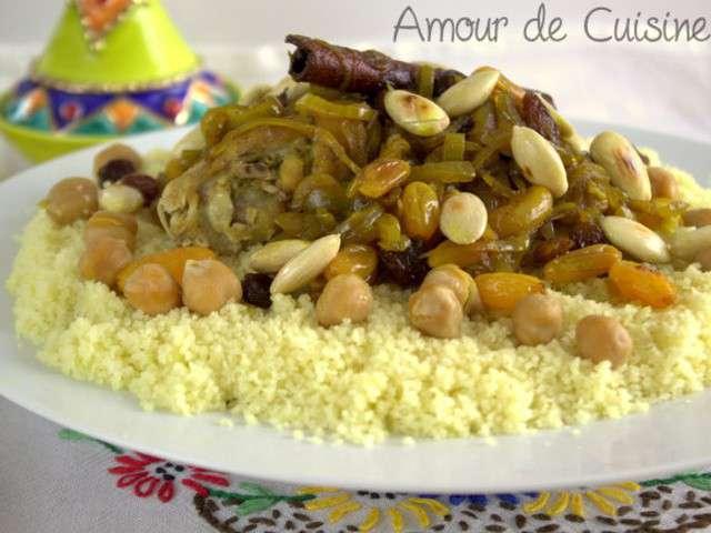 recettes de couscous aux l gumes et poulet