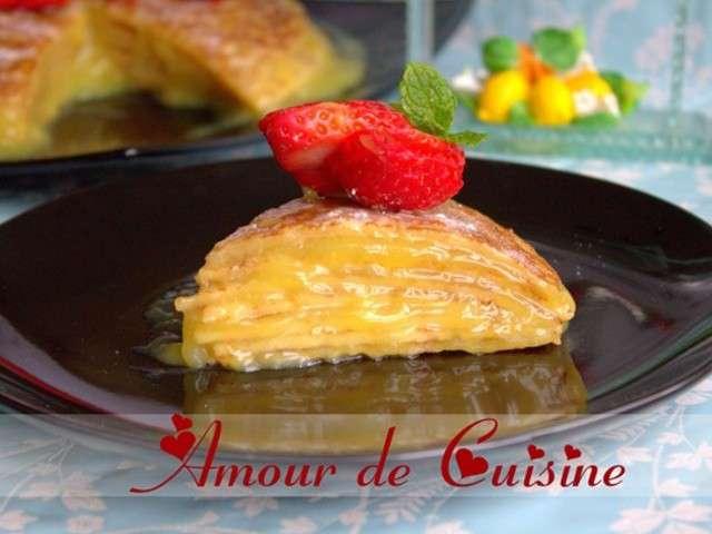 Recettes de g teau de crepes de amour de cuisine chez soulef for Amour de cuisine
