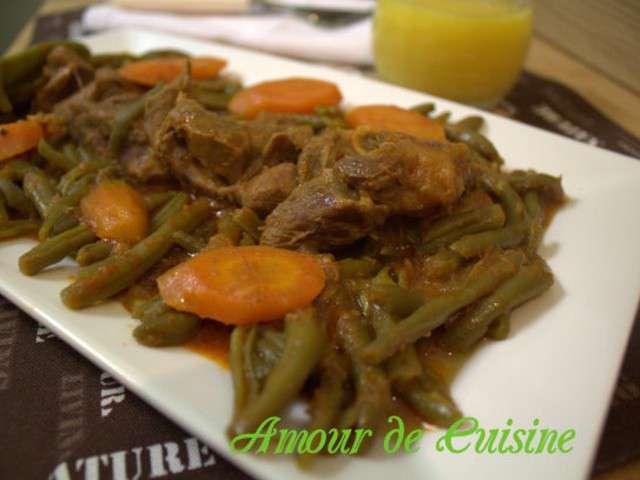 Haricots verts a l agneau en - Amour de cuisine chez soulef ...