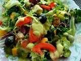 Salade composée, au saumon et a la mangue