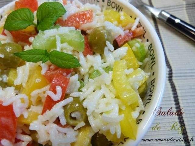 Recettes de salade de riz de amour de cuisine chez soulef - Amour cuisine chez sihem ...