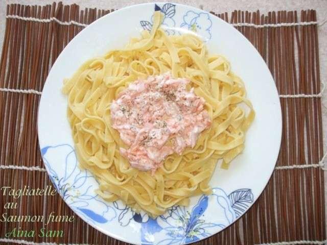 Recettes de tagliatelles au saumon et poisson for Amour de cuisine chez lila