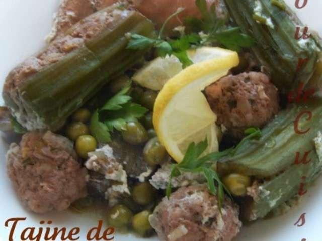 Recettes de tajine de petits pois et viande for Amoure de cuisine chez ratiba