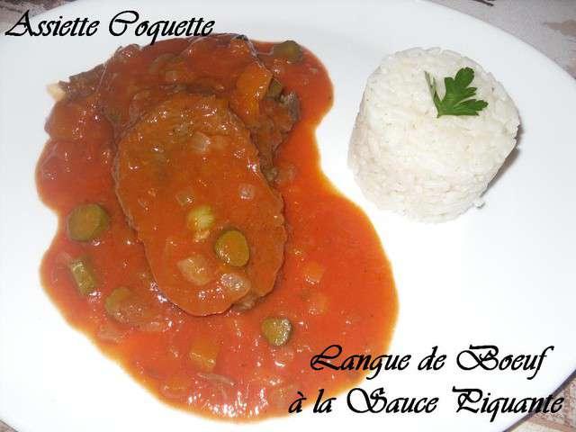 Recettes de langues et sauce tomate - Cuisiner langue de boeuf sauce piquante ...