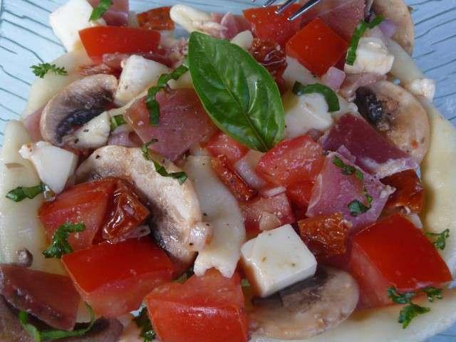 Recettes de salade de p tes et jambon de parme - Salade de pates jambon ...