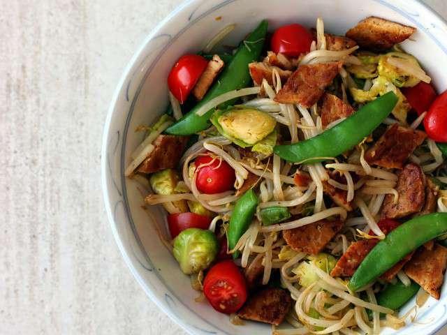 Recettes de pousses de soja et saut - Cuisiner des pois mange tout ...