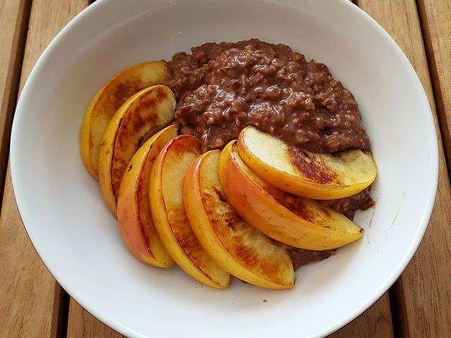 Recettes de porridge et pomme - Recette petit dejeuner sain ...