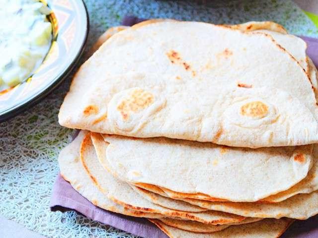 Recettes de pain pita de aux d lices du palais de sal ha - Recette pain sans levure ...
