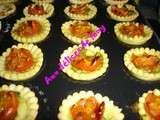 Tartelettes aperitives tomate/pesto