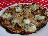Aubergine-pizza -light