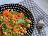 Salade pois chiches, carottes, coriandre