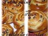 Petit pain aux pépites de chocolat