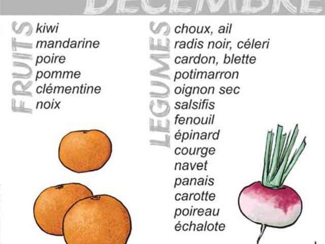 Recettes de cuisine bio et saison 3 - Legumes de saison decembre ...