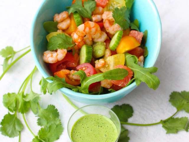 recettes de salade aux crevettes. Black Bedroom Furniture Sets. Home Design Ideas