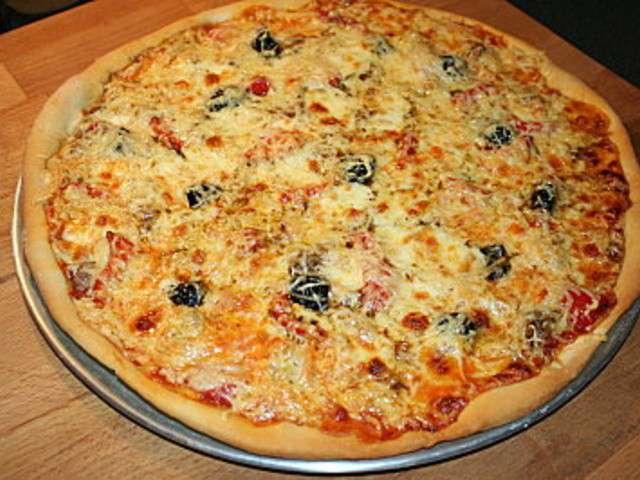 les meilleures recettes de p 226 te 224 pizza et poivrons