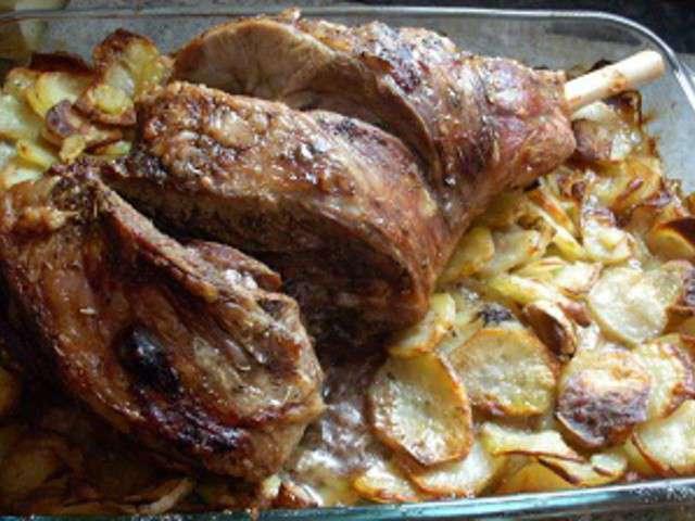 Recettes de gigot d 39 agneau et cuisine au four - Cuisine gigot d agneau ...
