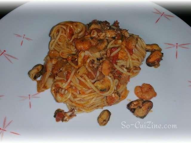 Recettes de spaghetti aux fruits de mer - Spaghetti aux fruits de mer ...