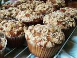 Muffins aux figues blanches et crumble amande/coco