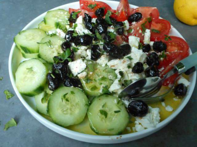Recettes de salade grecque 4 for Cuisine grecque