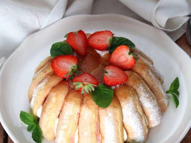 Recettes de charlotte aux fraises et cuisine facile for Cuisine facile