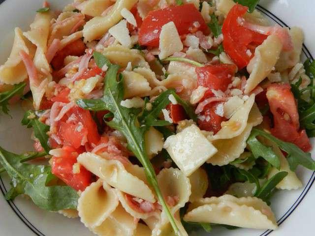 Salade de pates tomate roquette jambon - Salade de pates jambon ...
