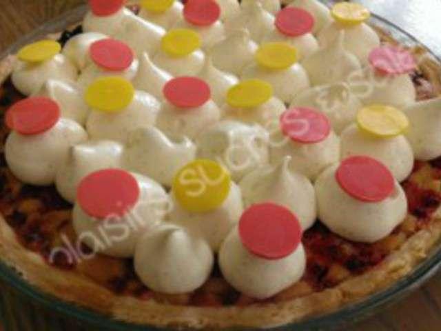 tarte briochee aux groseilles chantilly