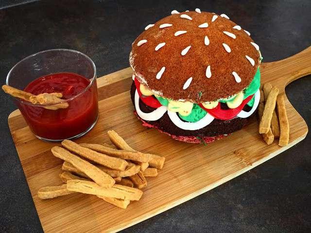 recettes de burger et cake. Black Bedroom Furniture Sets. Home Design Ideas
