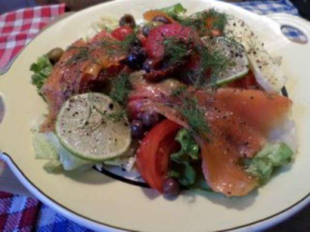 D ete salade fraiche de truite fumee a l aneth de la mere mitraille - Recette fraiche pour l ete ...