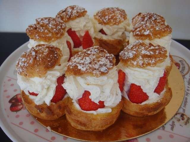 recettes de paris brest fraises chantilly dessert patisserie. Black Bedroom Furniture Sets. Home Design Ideas