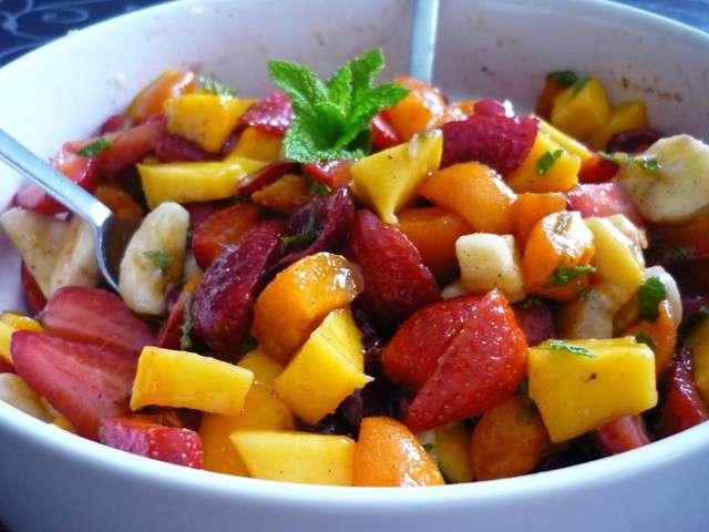 Recettes de salade de fruits et vanille - Coupe de salade de fruits ...