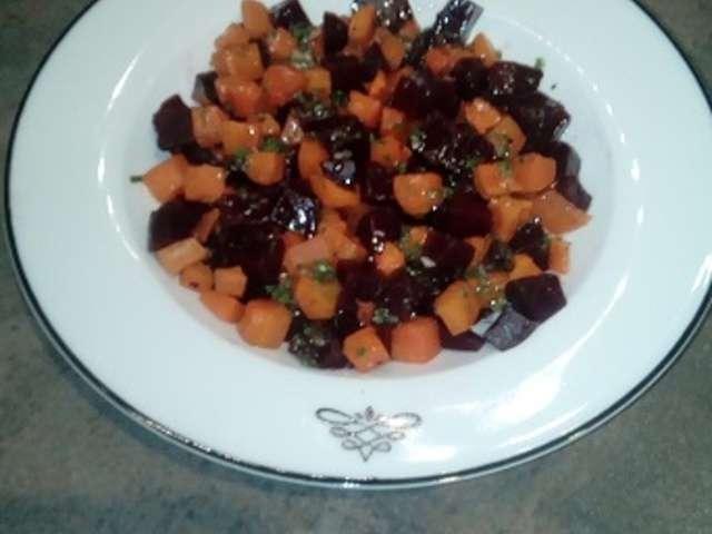 Recettes de salade de betterave et carottes - Cuisiner des betteraves rouges ...