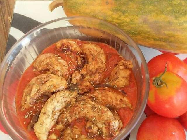 recettes d 39 aiguillettes de poulet et tomates. Black Bedroom Furniture Sets. Home Design Ideas