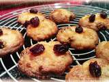 Cookies cranberry amandes effilées