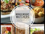 Idées menus Weight Watchers Printemps Eté