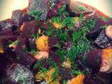 Salade de betteraves, oranges et aneth