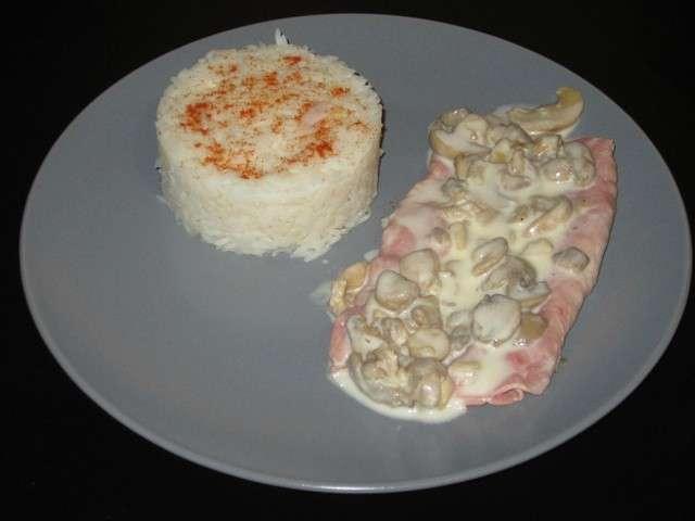 Recettes de Sauce champignon et Jambon