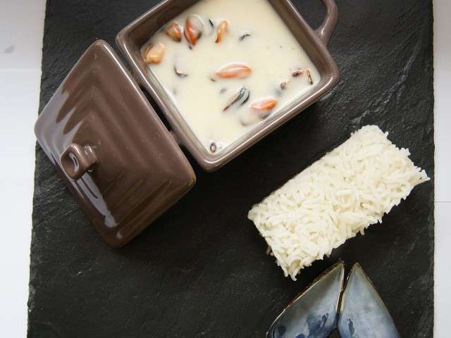 recettes de moules marini res et riz. Black Bedroom Furniture Sets. Home Design Ideas