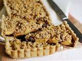 Tarte aux pommes topping crumble noisette