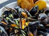 Moules au curry et mangue