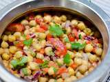 Salade de pois chiches chana chaat