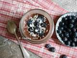 Chia pudding cacao-myrtilles