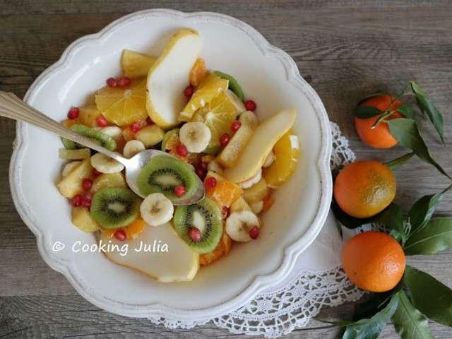 Recettes de salade de fruits de cooking julia - Salade d hiver variete ...