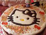 Gateau anniversaire Hello Kitty et Kitty en chamallow