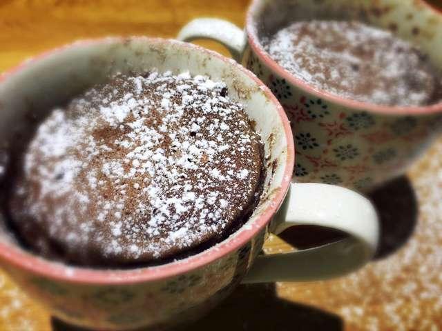 Mug Cake Fraise Chocolat Blanc